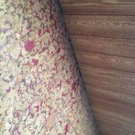 Фальшбалки-колонны из лиственнницы, массив дуба Выбеленный дуб