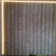 Крупнофарматный дубовый паркет 90х15х900 сорт Рустик табачный.